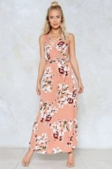 NASTY GAL Bloom Again Wrap Dress ~ long floral dresses