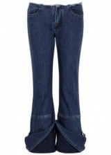 MARQUES'ALMEIDA Blue distressed cropped jeans
