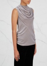 RICK OWENS Bonnie draped velvet top