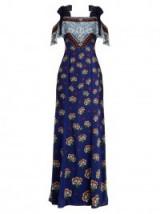 MARY KATRANTZOU Canasta Kings-print fil coupé gown ~ mixed prints ~ designer gowns