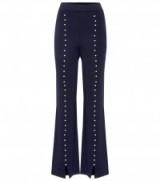 HUISHAN ZHANG Caron wool trousers   navy-blue embellished pants