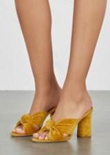 LOEFFLER RANDALL Coco marigold velvet mules