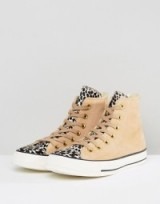 Converse Chuck Taylor All Star Hi Top Trainers In Pale Leopard Print | high tops | sports luxe | animal print sneakers