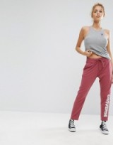 Converse Wordmark Tapered Pant In Burgundy   joggers   jogger pants   sportswear