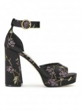 MISS SELFRIDGE Crush Oriental Platform Sandals ~ floral print platforms
