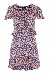 TOPSHOP Daisy Print Frill Tea Dress | floral summer dresses