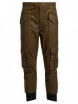 ISABEL MARANT ÉTOILE Dexter cropped waxed-twill trousers