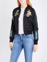 DIESEL Absol embroidered satin jacket | black embroidered bomber jackets