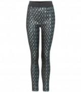DOLCE & GABBANA Lamé high-waisted leggings   metallic skinny pants