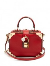 DOLCE & GABBANA Dolce Soft grained-leather box bag ~ beautiful red top handle bags ~ Italian handbags