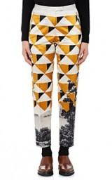 DRIES VAN NOTEN Pama Cotton-Blend Satin Trousers   geometric printed pants