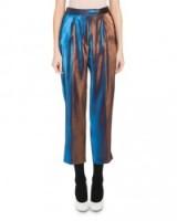 Dries Van Noten Penny Shiny Lamé Pants   luxury cropped trousers