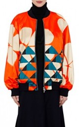 DRIES VAN NOTEN Vismes Cotton-Blend Satin Bomber Jacket | colourful printed jackets
