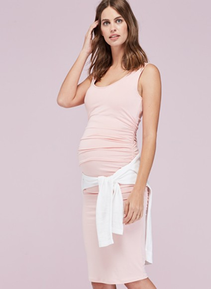 Isabella Oliver ELLIS MATERNITY TANK DRESS ~ casual pregnancy style ~ light pink day dresses