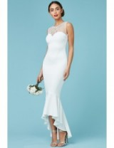 GODDIVA Embellished Fishtail Maxi Wedding Dress White – affordable bridal dresses