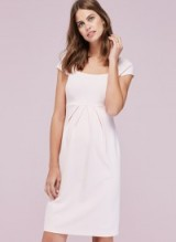 Isabella Oliver FARAH MATERNITY SHIFT DRESS ~ blush-pink pregnancy dresses
