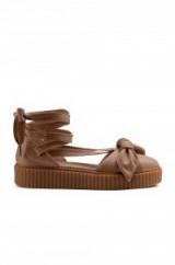 Fenty by Puma BOW CREEPER SANDAL | flat ankle wrap sandals