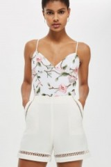 Topshop Floral Lace Embroidered Bodysuit