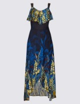 PER UNA Floral Print Ruffle Maxi Dress / M&S dresses / Marks and Spencer