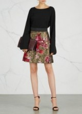 DOLCE & GABBANA Floral-embroidered mini skirt ~ A-line skirts ~ beautiful Italian clothing