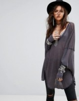 Free People Never Give Up Oversized Tee