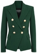 BALMAIN Green double-breasted blazer