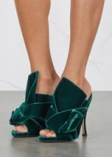 NO.21 Green velvet mules