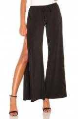 Haute Hippie BREEZE PANT   black side slit pants   wide leg trousers