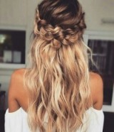 Beautiful summer braided hair