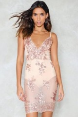 Nasty Gal I Will Survive Sequin Dress ~ pink sheer embellished going out dresses