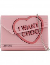 JIMMY CHOO Candy love heart acrylic clutch