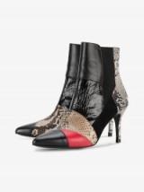 Kalda Caro 2 Snakeskin Embossed Boots