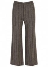 ISABEL MARANT Kearoan cropped linen blend trousers   grey crop leg pants