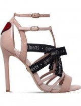 KG KURT GEIGER Hearts patent caged sandals