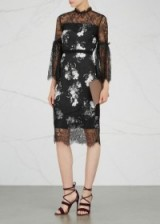 ERDEM Kiya printed cady and lace dress