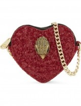 KURT GEIGER LONDON Glitter heart cross-body bag