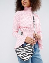 Lazy Oaf Exclusive Zebra Print Heart Cross Body Bag