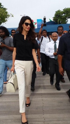 Amal Clooney's effortless day style