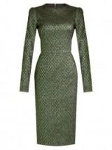 DOLCE & GABBANA Long-sleeved diamond-jacquard dress