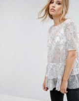 Lost Ink Smock Top With Embroidery
