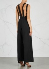 FINDERS KEEPERS Luca black wide-leg jumpsuit   strappy back jumpsuits