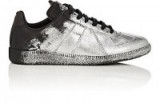 """MAISON MARGIELA Women's """"Replica"""" Glitter-Flocked Leather Sneakers 