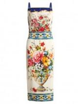 DOLCE & GABBANA Majolica-print square-neck charmeuse dress ~ beautiful floral printed dresses ~ chic Italian fashion