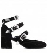 MCQ ALEXANDER MCQUEEN Pembury Mary Janes ~ black velvet Mary Jane shoes
