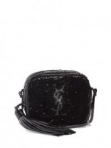 SAINT LAURENT Monogram Blogger sequin-embellished cross-body bag ~ small sequined bags