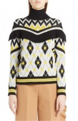 MSGM Agryle Heart Turtleneck Sweater