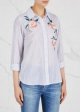 RAILS Nevin embroidered cotton shirt | casual floral shirts