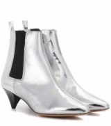 ISABEL MARANT Dawell metallic leather ankle boots | silver booties