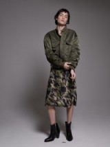 Nili Lotan ARMY GREEN MCGUIRE BOMBER JACKET | casual jackets