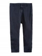 NILI LOTAN DARK NAVY PARIS PANT   cropped blue trousers